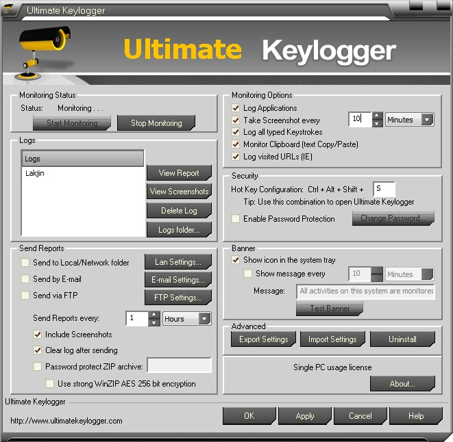 Review] Ultimate Keylogger | dotTech