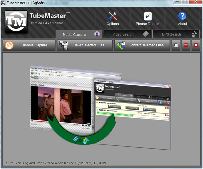 TubeMaster++: automatically download, and convert, streaming