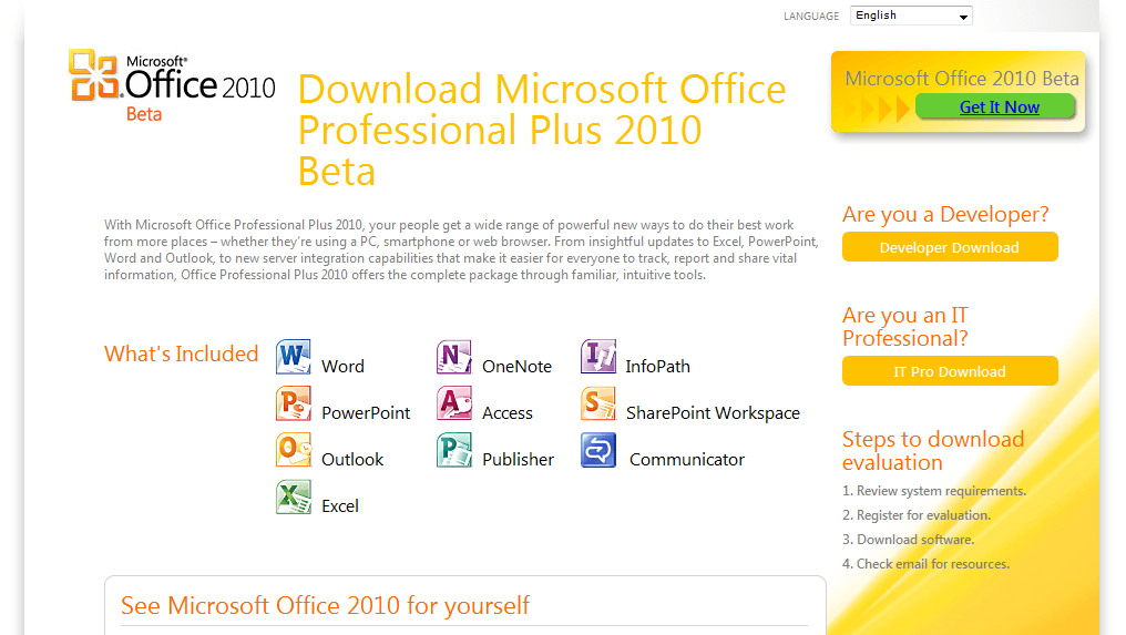 office pro 2010 english download