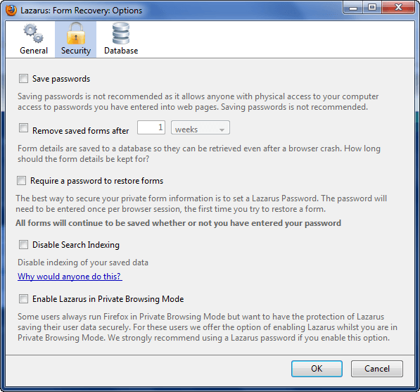 Lazarus: A must have form recovery add-on for Firefox (and