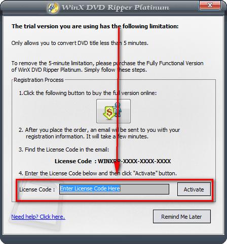 winx dvd registration code
