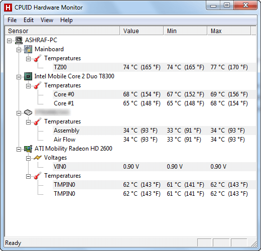 Monitor computer temperatures, voltages, and fan speeds with