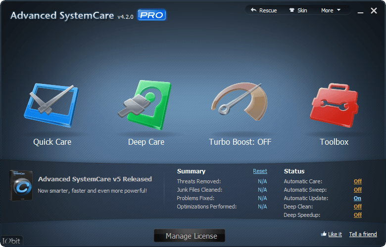advanced systemcare mac os x