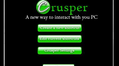 Crusper - Main Screen