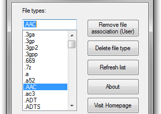 Unassociate File Types
