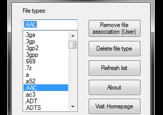 Unassociate File Types