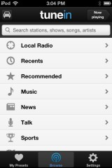 Listen to any radio station on your phone with TuneIn Radio [iPhone