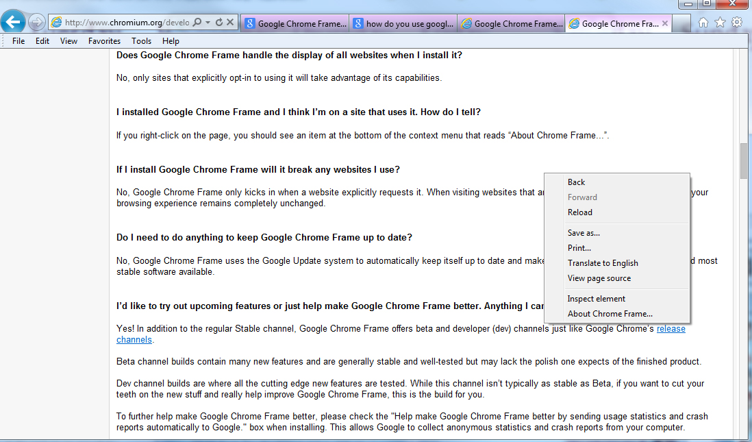 Internet Explorer] Bring HTML5 functionality to IE with Chrome Frame ...