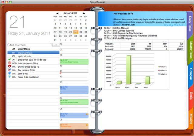 Calendar Wallpaper Program : Get yourself organized with opus domini a desktop