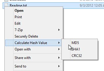 Verify file downloads by calculating MD5 hashes from the context