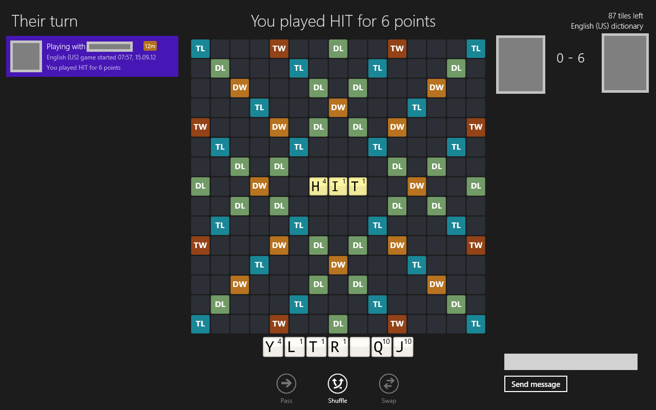 Windows 8] Play Scrabble with friends and random players