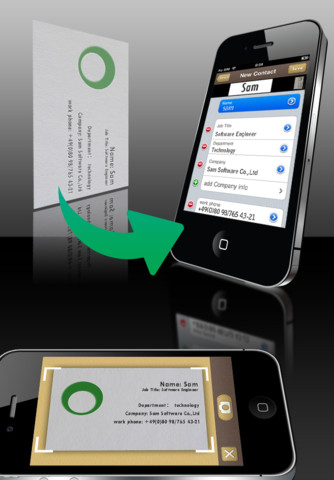 Samcard automatically adds a contact by scanning their business card samcard is a new business card scannerreader for the iphone the purpose of the app is simply to skip the step of entering a contact into your phone after reheart Image collections