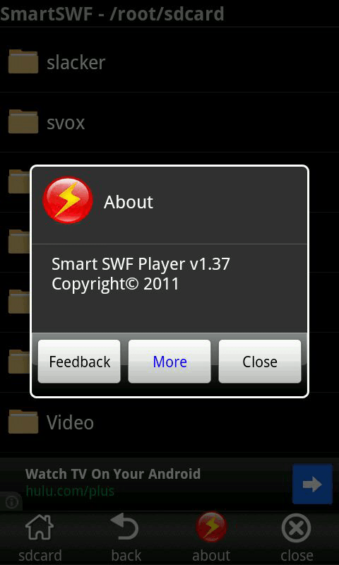 Android] Play downloaded Flash ( SWF) files with Smart SWF Player