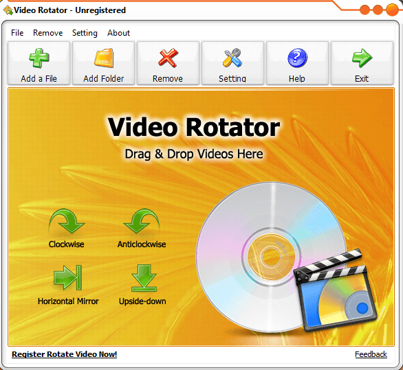 Windows flip and rotate your videos with video rotator dottech video rotator just so happens to be one of those programs the main propose of this program is to flip ccuart Images