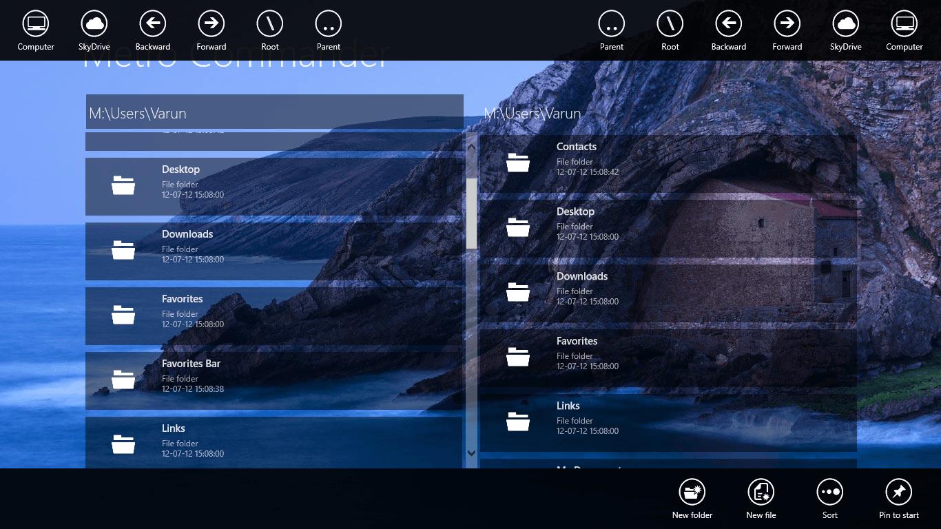 Windows 8] Metro Commander is a beautiful Modern UI file