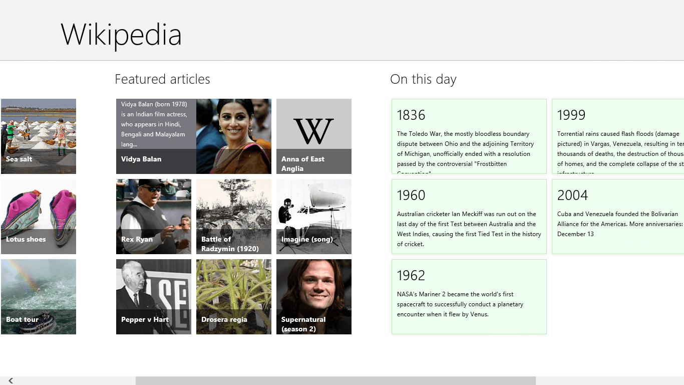 [Windows 8] Official Wikipedia app is a must download | dotTech