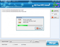 ALl Free MP3 Joiner Screensoht