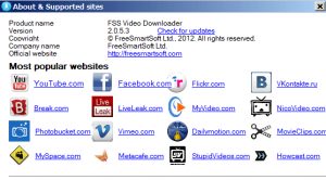 FSS Video Downloader Screenshot