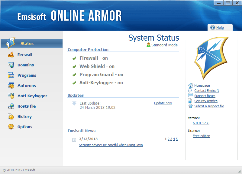 Online armor free firewall download for windows free software.