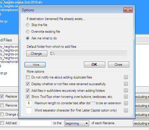 Windows renamer tool 2010