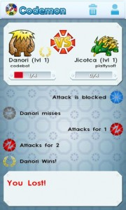 Codemon Battle Stats