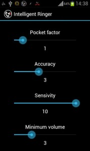 Intelligent Ringer Settings Menu