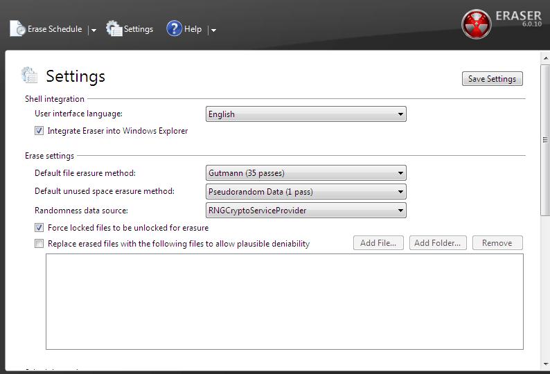 [Windows] Eraser is the best free program for securely deleting files
