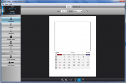 Calme Picture Calendar template settings