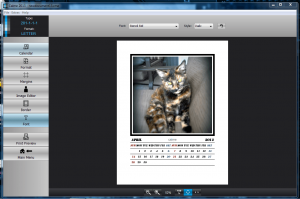 Calme image added to picture calendar