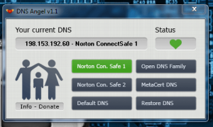 DNS Angel ConnectSafe server active