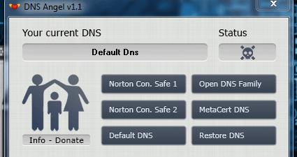 DNS Angel Main UI