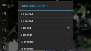Droid timelapse frame capture rate