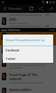 Phonechievement share button
