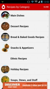 Recipe Search cuisine categories