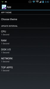 System Monitor Lite App Settings