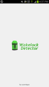 Wakelock Detector splash screen