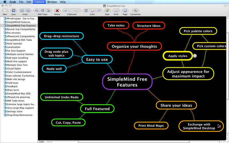 free mind mapping for mac os x