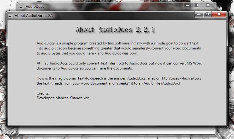 Windows] Convert Word (DOC, DOCX) documents into audio files