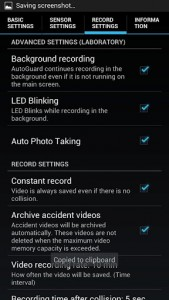 AutoGuard Blackbox recorder settings