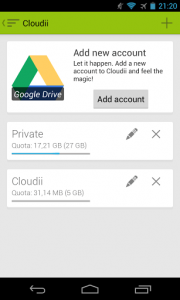 Cloudii setting up Google Drive account