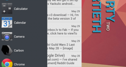 Kakudo Lite setup app tray on home screen