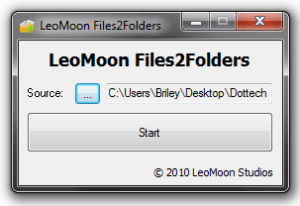 LeoMoon Files2Folders directory assigned