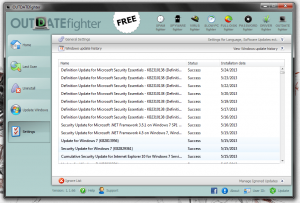 OUTDATEfighter Windows update history