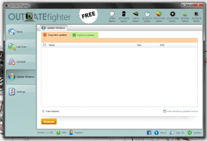 OUTDATEfighter Windows updates tool