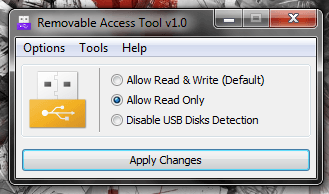 Windows] Disable read or write access for USB flash and external ... Ratool Read Only