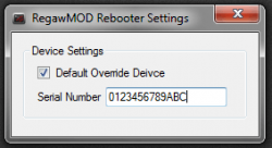 RegawMod Rebooter Settings