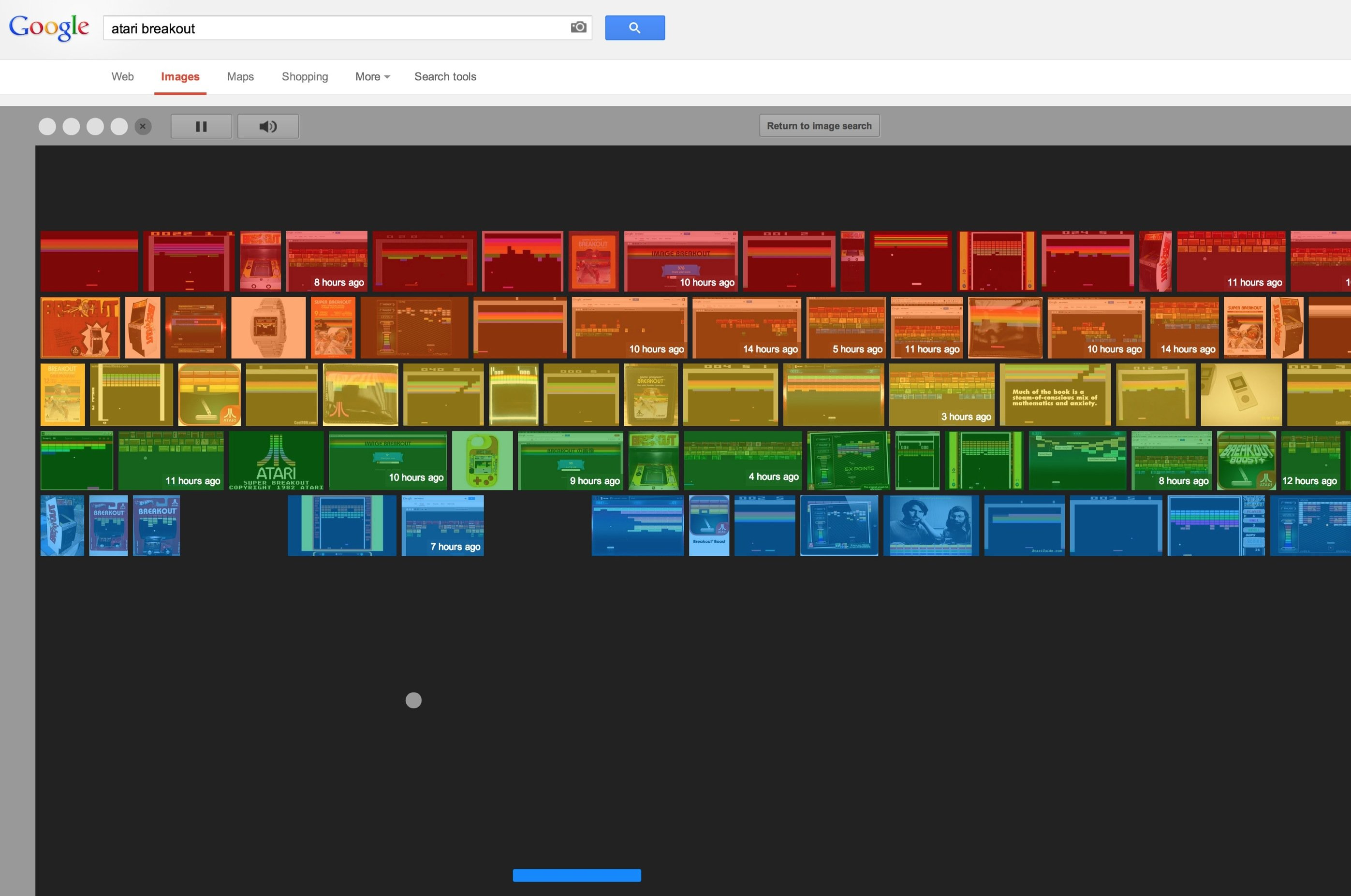 You can play Atari Breakout on Google Image Search right now, and