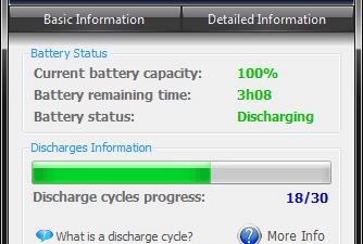 BatteryCare Main UI
