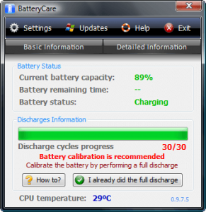 BatteryCare calibration recommended