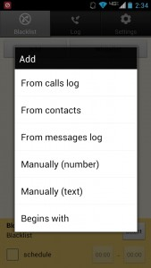Blacklist Plus adding contacts